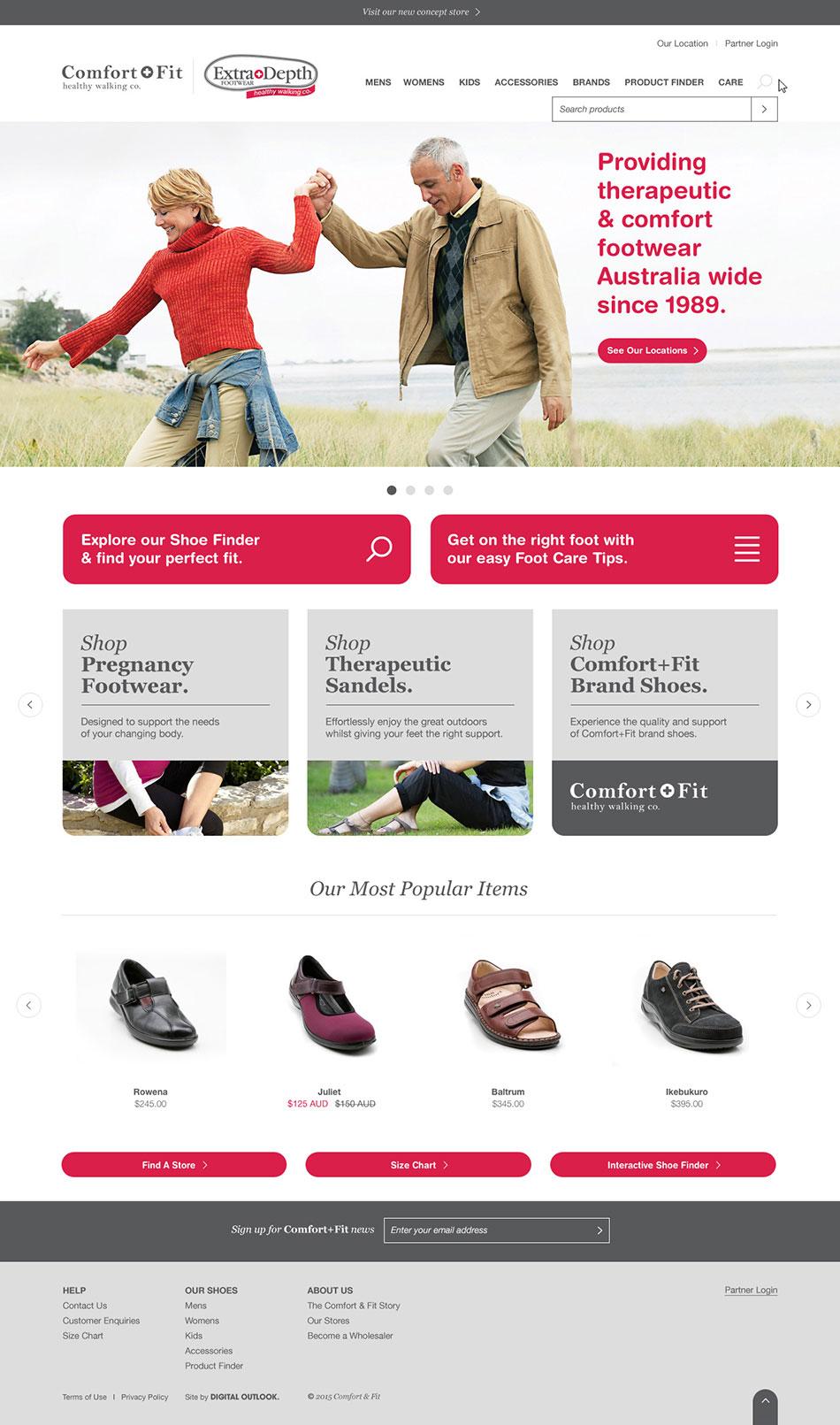 Comfort & Fit | Magento website by Digital Outlook